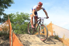 Pavel Boudny - mountain bikes racing Royalty Free Stock Photo