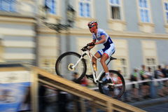 Pavel Boudny - Prague Steps bike race 2014 Royalty Free Stock Photography
