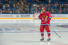 Pavel Bure (10) before the start of the game Royalty Free Stock Photos