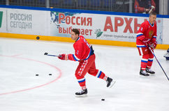 Pavel Bure (10) training Stock Photography