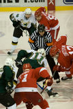 Pavel Datsyuk Faces Off Against Dallas Royalty Free Stock Photos