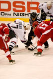 Pavel Datsyuk Faces Off Against Ryan Kesler Stock Image