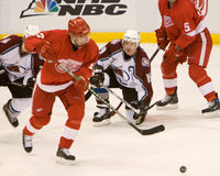 Pavel Datsyuk Gets Away With The Puck Royalty Free Stock Images