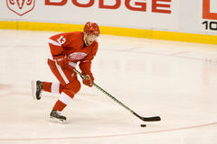 Pavel Datsyuk Has The Puck Imagem de Stock Royalty Free
