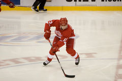 Pavel Datsyuk With The Puck Stock Image