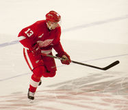 Pavel Datsyuk Starts His Shootout Turn Royalty Free Stock Images