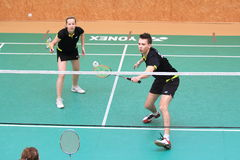 Pavel Drancak and Hana Musilova - badminton Royalty Free Stock Photos