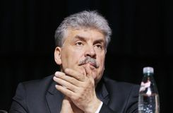 Pavel Grudinin ένας υποψήφιος για τη θέση του Προέδρου της Ρωσικής Ομοσπονδίας Στοκ φωτογραφία με δικαίωμα ελεύθερης χρήσης
