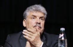 Pavel Grudinin un candidato a los posts del presidente de la Federación Rusa Fotografía de archivo libre de regalías
