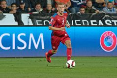 PAVEL KADERABEK. Pilsen 04/09/2015 _ Match of the EURO 2016 qualification group A Czech Republic - Kazakhstan stock image