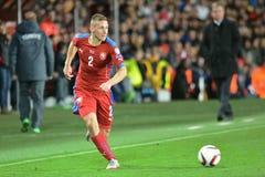 PAVEL KADERABEK. PRAGUE 10/10/2015 _ Match of the EURO 2016 qualification group A Czech Republic - Turkey royalty free stock photo