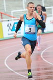 Pavel Maslak - 400 metres run. Pavel Maslak from Czech Republic in 400 metres run  held within the 20th annual Josef Odlozil meeting included to the EA premium Stock Photography