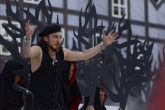 Pavel Shmulevich in the opera The Marksman outdoors Royalty Free Stock Photography
