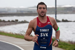 Pavel Simko (7), triathlon Stock Photos