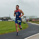 Pavel Simko (7), triathlon Stock Images