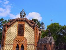 Pavellons Guell in Barcelona stock photography