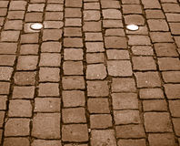 Pavement. It is recurring gray city street paving Stock Images