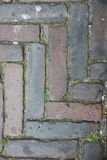 Pavement. With rectangular colored stones laid pavement royalty free stock photo