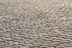 Pavement. Paving on the square in Copenhagen, Denmark Royalty Free Stock Images