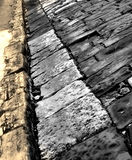 Pavement. With the stone elements, walk on it Stock Photo