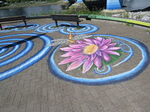 Pavement Art Royalty Free Stock Images