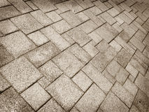 Pavement Background of cobble stones Royalty Free Stock Photos