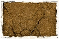 Pavement Background Texture with Frame. Cement / Pavement Grunge textured Background with white jagged border royalty free stock photo