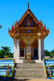 pavement bangkok in thailand incision of the buddha gold  temple Stock Image