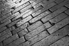 Pavement in black and white Stock Photos
