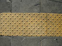 Pavement for blind people Royalty Free Stock Photo