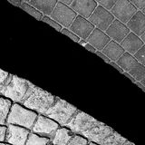 Pavement brick. Artistic look in black and white. Royalty Free Stock Photo