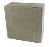 Pavement brick, isolated. Concrete block for paving. Pavement brick, isolated. Concrete block paving stock image