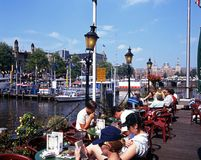 Pavement cafe, Amsterdam. Stock Photos