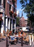 Pavement cafe, Amsterdam. Stock Image