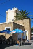 Pavement cafe, Conil de la Frontera. Royalty Free Stock Photo