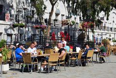 Pavement cafe, Gibraltar. Stock Photography