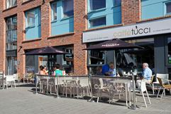 Pavement cafe, Gloucester. Royalty Free Stock Photography