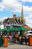 Pavement cafe and High House, Hereford. Stock Photography