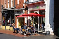 Pavement cafe, Lichfield. Stock Photo