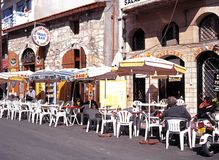 Pavement cafe, Limassol. Stock Photo
