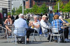 Pavement cafe, Liverpool. Royalty Free Stock Photos