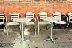 Pavement cafe stock image