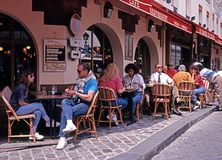 Pavement cafe, Paris. Royalty Free Stock Images