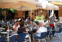 Pavement cafe, Sanlucar de Barrameda. Stock Image