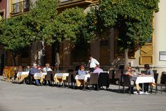 Pavement cafe, Seville, Spain. Stock Photo