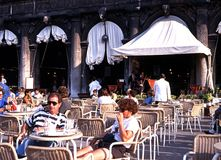 Pavement cafe, Venice. Stock Photos