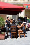 Pavement cafe, Victoria, Gozo. Stock Images