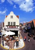 Pavement cafe, Volendam. Royalty Free Stock Images