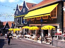 Pavement cafe, Volendam. Stock Photography