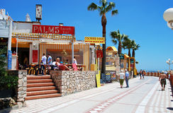 Pavement cafes, Benalmadena. Royalty Free Stock Photography